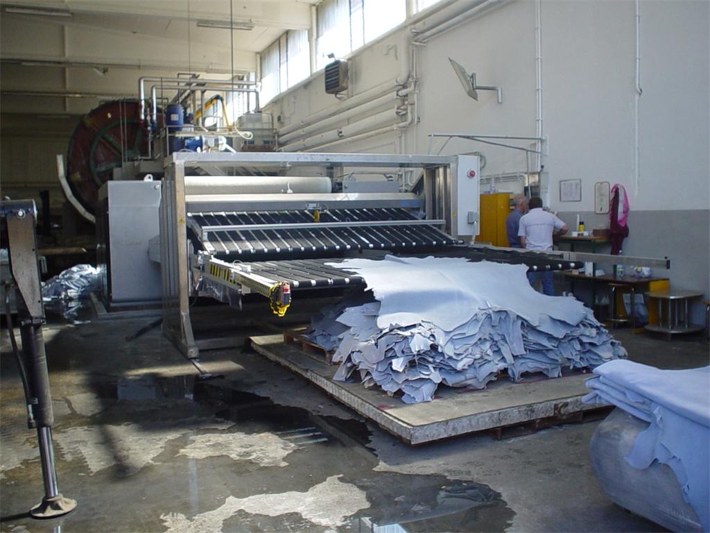 Процесс производства кожи вет-блю