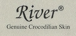 River - Thailand - Genuine crocodilian skin