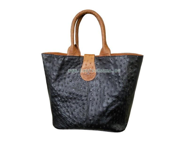 Женская кожаная сумка под страуса COT1003