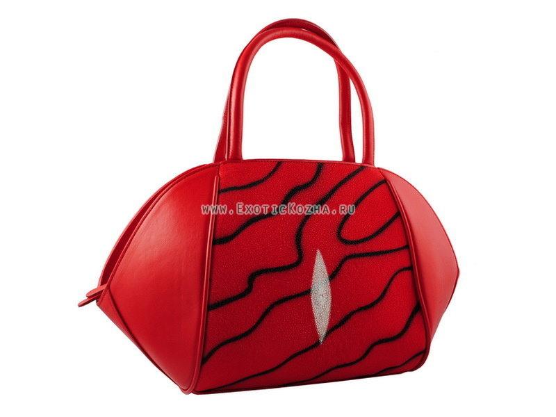 Мужские сумки и портфели из кожи ската